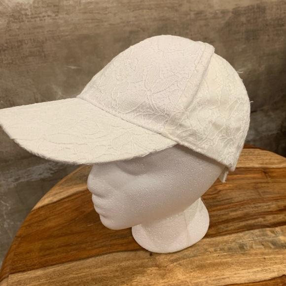 Lace baseball hat.